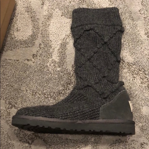 UGG Shoes - 🆕 UGG KNIT BOOTS Sz 8 New In Box Grey 🆕